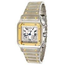 Cartier Santos Galbee W20042C4 Unisex Chronograph Watch in 18K...