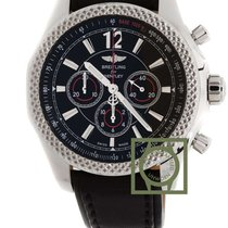 Breitling Bentley Barnato 42mm Black Dial Leather Strap NEW
