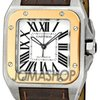 Cartier Santos 100 18kt Rose Gold and Steel Midsize Watch...