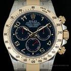 Rolex S/G O/P Blue Arabic Dial Cosmograph Daytona B&P 116523
