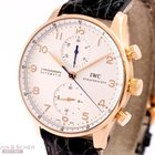 IWC Portugieser Chronograph Rose Gold Ref-3714-02 Box Papers...