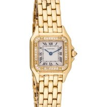 Cartiert Yellow Gold Panther Diamond Bezel  1280
