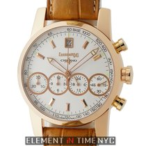 Eberhard & Co. Chrono 4  18k Rose Gold Silver Dial  Ref....