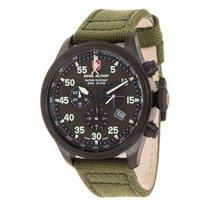 Swiss Military Watch Hawk Nero Rawhide Chronograph 27321
