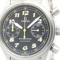Omega Polished Omega Dynamic Chronograph Steel Automatic Mens...