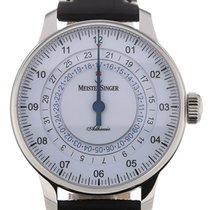 Meistersinger Adhaesio 43 GMT White Dial