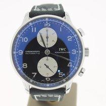 IWC Portuguese Chronograph BlackDial (B&P2011) 40mm NewStrap