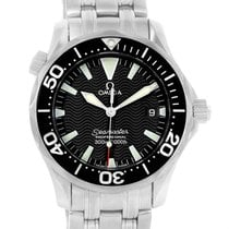 Omega Seamaster Midsize 300m Black Wave Dial Watch 2262.50.00