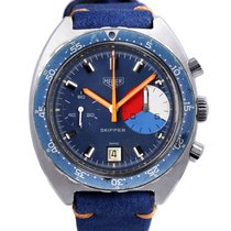 Heuer Skipper 73464 steel vintage chronograph