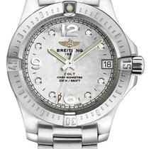 Breitling Colt 33 White MOP Dial 8 Diamonds Women Watch...