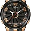 Perrelet Turbine 18k Rose Gold Case Black Dial Mens Watch A3027-1