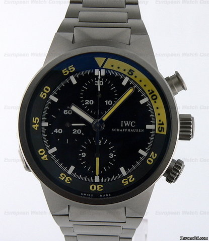 IWC Aquatimer Split Minute Chrono  Titanium Black Dial NEW