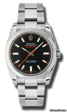 Rolex Milgauss Stainless Steel with Black Dial &amp;amp; Orange Hand 40mm