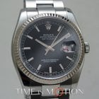 Rolex Oyster Perpetual Datejust 2 tons Noir Silver 116234...