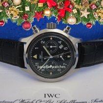 IWC Fliegeruhr Fliegerchronograph in Stahl mit Quarzwerk Papiere