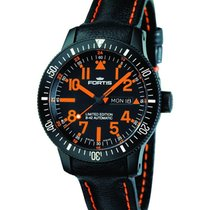 Fortis B-42 Black Mars 500 Day/date Auto Wr 200m Black Leather...