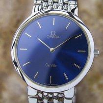 Omega Deville Quartz Round Swiss Made Men's Dress Watch...