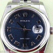 Rolex Datejust Mens Watch 116200 Steel 2012 Inside Bezel...