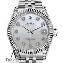 Rolex Woman's Rolex 26mm Datejust White Mop Mother Of...