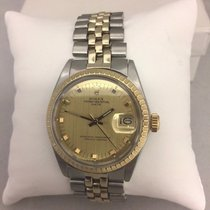 Rolex Mens Rolex Two Tone Oyster Perpetual Date Watch Stainles...