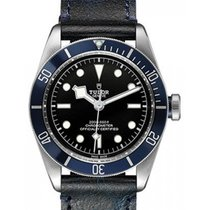 Tudor Heritage Black Bay 79230B Black Index Stainless Steel...