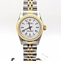 Rolex 1990 Ladies Datejust Two Tone Yellow Gold White Dial...
