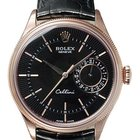 Rolex [NEW] Cellini Date Watch 39mm 50515 Black Dial