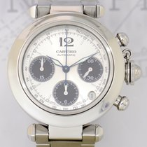 Cartier Pasha Chronograph Date Panda Automatic TOP Stahlband