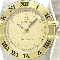Omega Polished Omega Constellation 18k Gold Steel Ladies Watch...