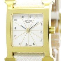 Hermès Near Never Used Hermes H Watch Gold Plated Quartz...