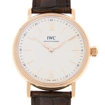 IWC Portofino 18k Pink Gold White Manual Wind IW511102