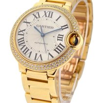 Cartier Ballon Bleu M 18Kt Yellow Gold Automatic Women Watch...