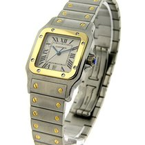 Cartier W20011C4 Santos Galbee in 2 - Toned - Steel and Yellow...