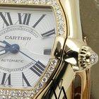 Cartier Yellow Gold Cartier Roadster Watch 2524 Brown Strap...