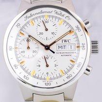 IWC GST Chronograph Stahl Automatik white Dial Gold Klassiker BP