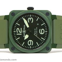 Bell & Ross BR03-92 Green Ceramic Military Type 42mm...