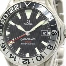 Omega Polished Omega Seamaster Gmt 50th Anniversary Automatic...