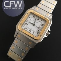 Cartier Santos Galbee automatic gold and steel