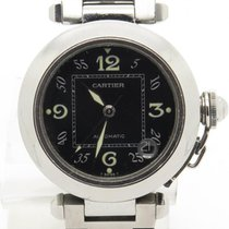 Cartier Pasha Ref 2324 Lady's Stainless Steel Black Dial...