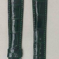 Parmigiani Fleurier leather strap green 20 / 16