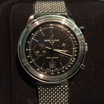 Breitling Transocean Chronograph 38mm A4131012 Black Dial NEW