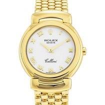 Rolex Cellini Quartz Ladies 6621-8 White Roman Yellow Gold...