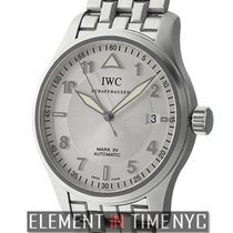 IWC Pilot Collection Mark XV Stainless Steel Silver Spitfire...