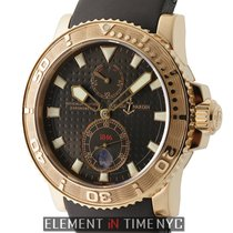 Ulysse Nardin Maxi Marine Diver 18k Rose Gold Brown Dial 43mm