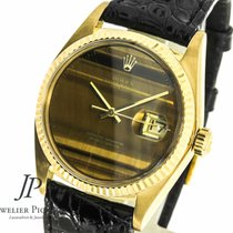 Rolex Datejust 750  Gebgold Tiger Eye Dial, Rolex Service