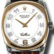 Rolex Cellini Danaos 6229-9 White Arabic Rose Gold Bezel White...