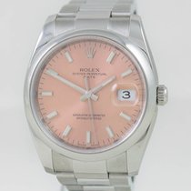 Rolex Date Steel Case Pink Dial Ref. 115200