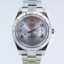 Rolex Datejust II ref. 116334 silver arab