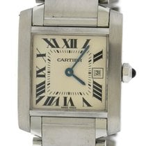 Cartier Tank Francaise Midsize Stainless Steel