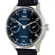 IWC Portoghese Seven Days 5001 Steel, Leather, 42mm